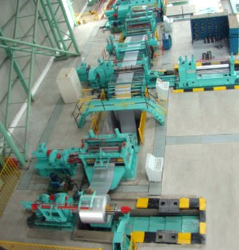 High Speed Uncoiling-Leveling-Cut to length- Stacking Line2